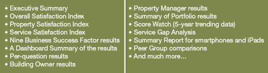 Features of a Performance Analysis Report from CEL & Associates